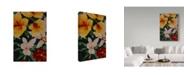 "Trademark Global Moises Levy 'Art Flower Red' Canvas Art - 32"" x 22"" x 2"""