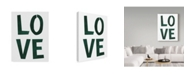 "Trademark Global Summer Tali Hilty 'Love Green' Canvas Art - 47"" x 35"" x 2"""