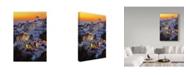 "Trademark Innovations Paduroiu Claudiu 'Santorini' Canvas Art - 12"" x 2"" x 19"""