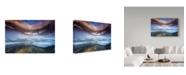 """Trademark Global Naphat Chantaravisoot 'Foggy Ice' Canvas Art - 19"""" x 2"""" x 12"""""""