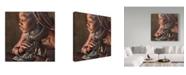 "Trademark Global Piet Flour 'Smoke Bath In The Hut' Canvas Art - 14"" x 2"" x 14"""