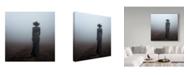 "Trademark Global Mikhail Potapov 'Woman In Black Fog' Canvas Art - 18"" x 2"" x 18"""