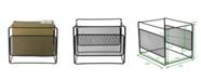 Mind Reader Metal Mesh Hanging Folder File Organizer