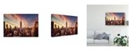 """Trademark Global Javier De La 'Midtown Sunset City' Canvas Art - 32"""" x 2"""" x 22"""""""