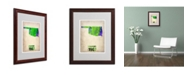 "Trademark Global Naxart 'Oklahoma Watercolor Map' Matted Framed Art - 16"" x 20"" x 0.5"""