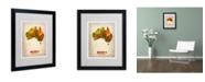 "Trademark Global Naxart 'Australia Watercolor Map' Matted Framed Art - 20"" x 16"" x 0.5"""
