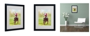 "Trademark Global Michelle Moate 'Horse of Sport I' Matted Framed Art - 20"" x 16"" x 0.5"""