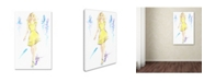 "Trademark Global Jennifer Lilya 'Lemon Meringue High' Canvas Art - 22"" x 32"" x 2"""
