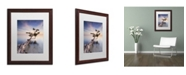 """Trademark Global Moises Levy 'Water Tree X' Matted Framed Art - 20"""" x 16"""" x 0.5"""""""