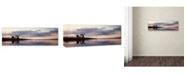 """Trademark Global Moises Levy 'Prospect Light Panoramica 2 Color' Canvas Art - 10"""" x 32"""" x 2"""""""