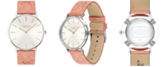 COACH Women's Perry Pink Floral Leather Strap Watch 36mm Created for Macy's