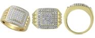 Macy's Men's Diamond Cluster Ring (1 ct. t.w.) in 10k Gold