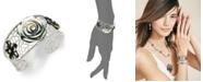 Macy's Cultured Tahitian Mother of Pearl Flower Cuff Bracelet in Sterling Silver