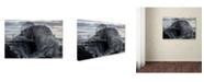 "Trademark Global Roberto Zanleone 'Danger Pier' Canvas Art - 32"" x 22"" x 2"""