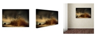 "Trademark Global Miki Meir Levi 'Beach' Canvas Art - 19"" x 12"" x 2"""