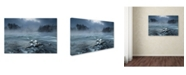 """Trademark Global Tom Meier 'Frosty Morning At The River' Canvas Art - 47"""" x 30"""" x 2"""""""