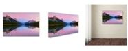 "Trademark Global Yan Zhang 'Maligne Lake' Canvas Art - 19"" x 12"" x 2"""