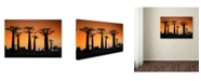 "Trademark Global Raymond Ren Rong 'Sunset In Morondava' Canvas Art - 24"" x 16"" x 2"""