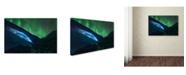 "Trademark Global Javier De La 'Athabasca Ice Burning' Canvas Art - 19"" x 12"" x 2"""