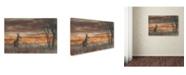 "Trademark Global Nick Kalathas 'Last Light' Canvas Art - 19"" x 12"" x 2"""