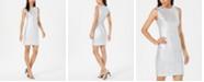 Calvin Klein Embellished Metallic Sheath Dress