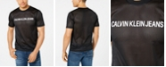 Calvin Klein Jeans Men's Logo Graphic Mesh Racing T-Shirt