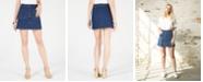 OAT Button-Front Denim Mini Skirt