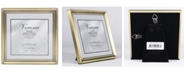 "Lawrence Frames Antique Brass Picture Frame - Bead Border Design - 5"" x 5"""