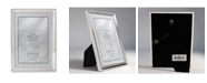"""Lawrence Frames Polished Silver Plate Picture Frame - Bead Border Design - 5"""" x 7"""""""