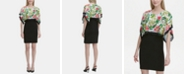 Calvin Klein Printed-Overlay Sheath Dress