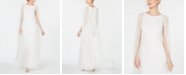 Adrianna Papell Embellished Cape Gown
