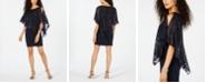 Connected Petite Asymmetrical Overlay Sheath Dress