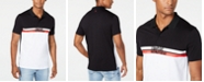 A|X Armani Exchange Men's Colorblocked Stripe Logo-Print Polo Created For Macy's