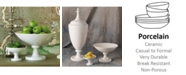 Global Views White Grand Pedestal Bowl Large