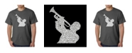 LA Pop Art Mens Word Art T-Shirt - All Time Jazz Songs