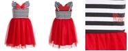 Disney Little Girls Minnie Me Striped Dress, Created for Macy's