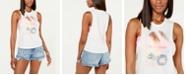 Roxy Juniors' Cotton Island Palms Muscle Tank Top