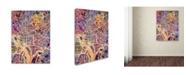 "Trademark Global Michael Tompsett 'Washington DC Street Map 2' Canvas Art - 14"" x 19"""