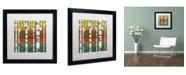 "Trademark Global Michelle Calkins 'Birches' Matted Framed Art - 16"" x 16"""