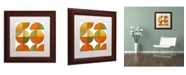 "Trademark Global Michelle Calkins 'Four Suns Quartered 2.0' Matted Framed Art - 11"" x 11"""