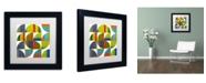 "Trademark Global Michelle Calkins 'Quarter Rounds 2.0' Matted Framed Art - 11"" x 11"""