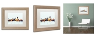 """Trademark Global Michael Tompsett 'San Francisco Skyline Blue' Matted Framed Art - 11"""" x 14"""""""