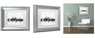 "Trademark Global Michael Tompsett 'Oxford England Skyline Blue' Matted Framed Art - 11"" x 14"""