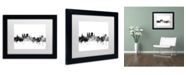 """Trademark Global Michael Tompsett 'York England Skyline B&W' Matted Framed Art - 11"""" x 14"""""""