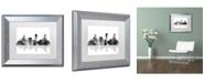 """Trademark Global Marlene Watson 'Denver Colorado Skyline BG-1' Matted Framed Art - 11"""" x 14"""""""