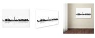 "Trademark Global Marlene Watson 'Las Vegas Nevada Skyline BG-1' Canvas Art - 12"" x 19"""