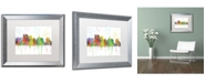 "Trademark Global Marlene Watson 'Oakland California Skyline Mclr-1' Matted Framed Art - 16"" x 20"""