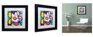 "Trademark Global Roberto Rafael 'Big Flower I' Matted Framed Art - 11"" x 11"""