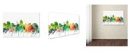 "Trademark Global Marlene Watson 'San Antonio Texas Skyline SP' Canvas Art - 12"" x 19"""