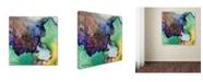 "Trademark Global Jennifer Redstreake 'Purples Intermixed' Canvas Art - 14"" x 14"""
